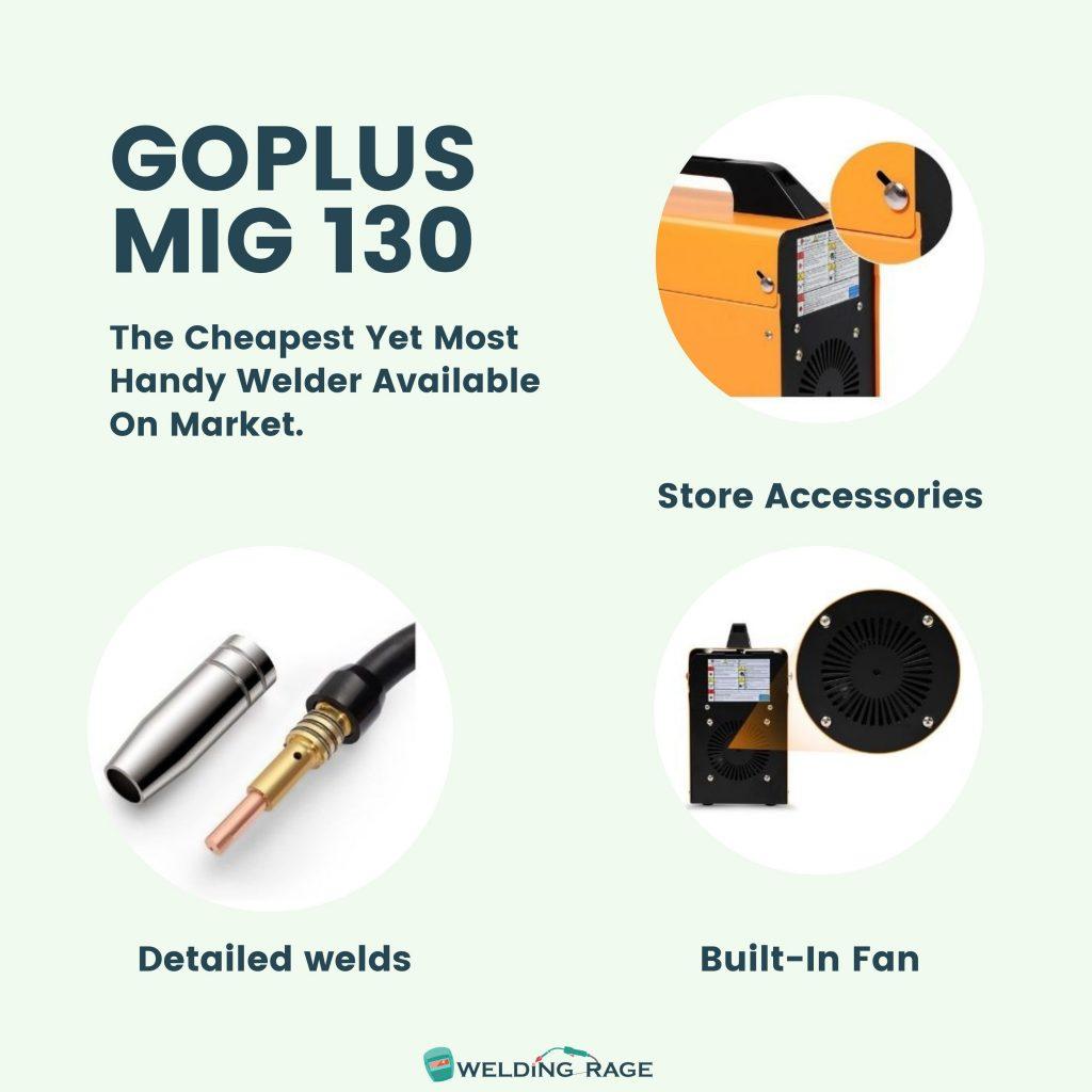 Goplus MIG 130 Key Features