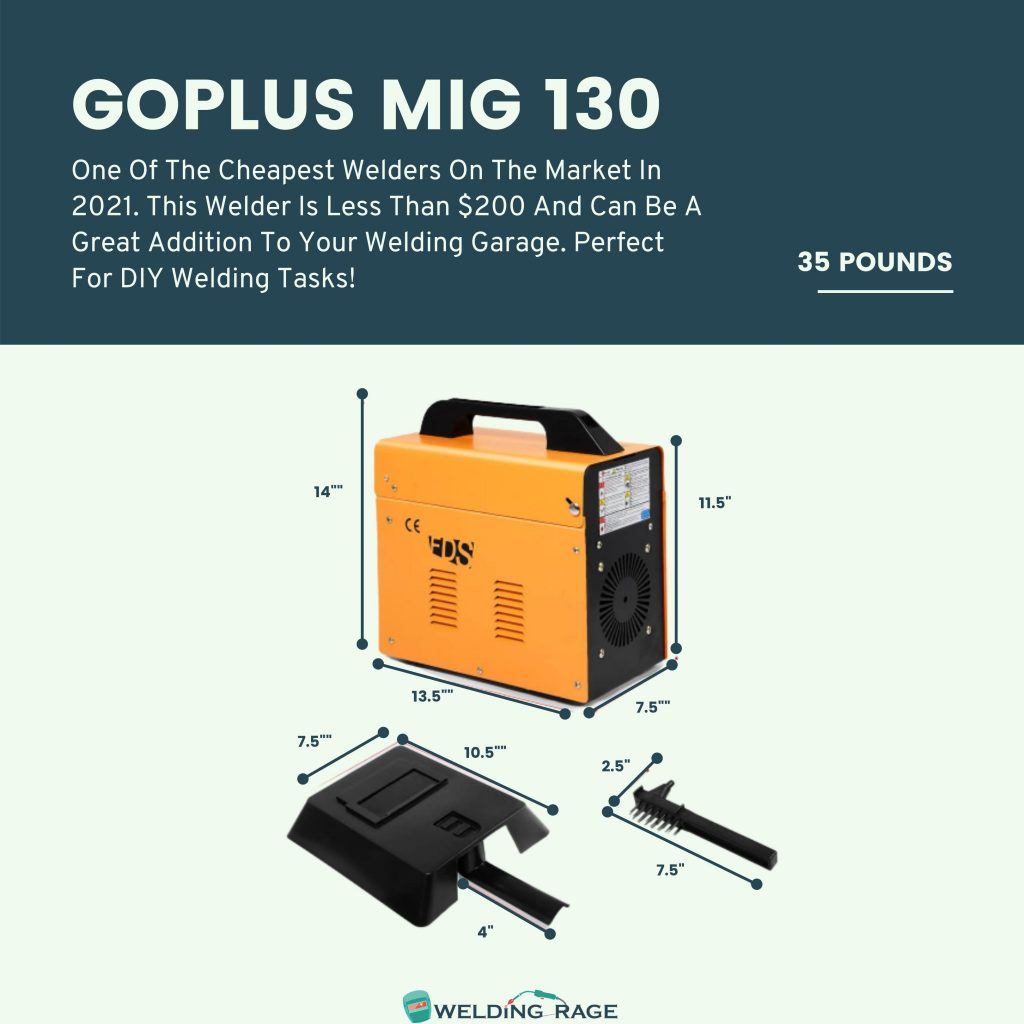 Goplus MIG 130 Size and Weight