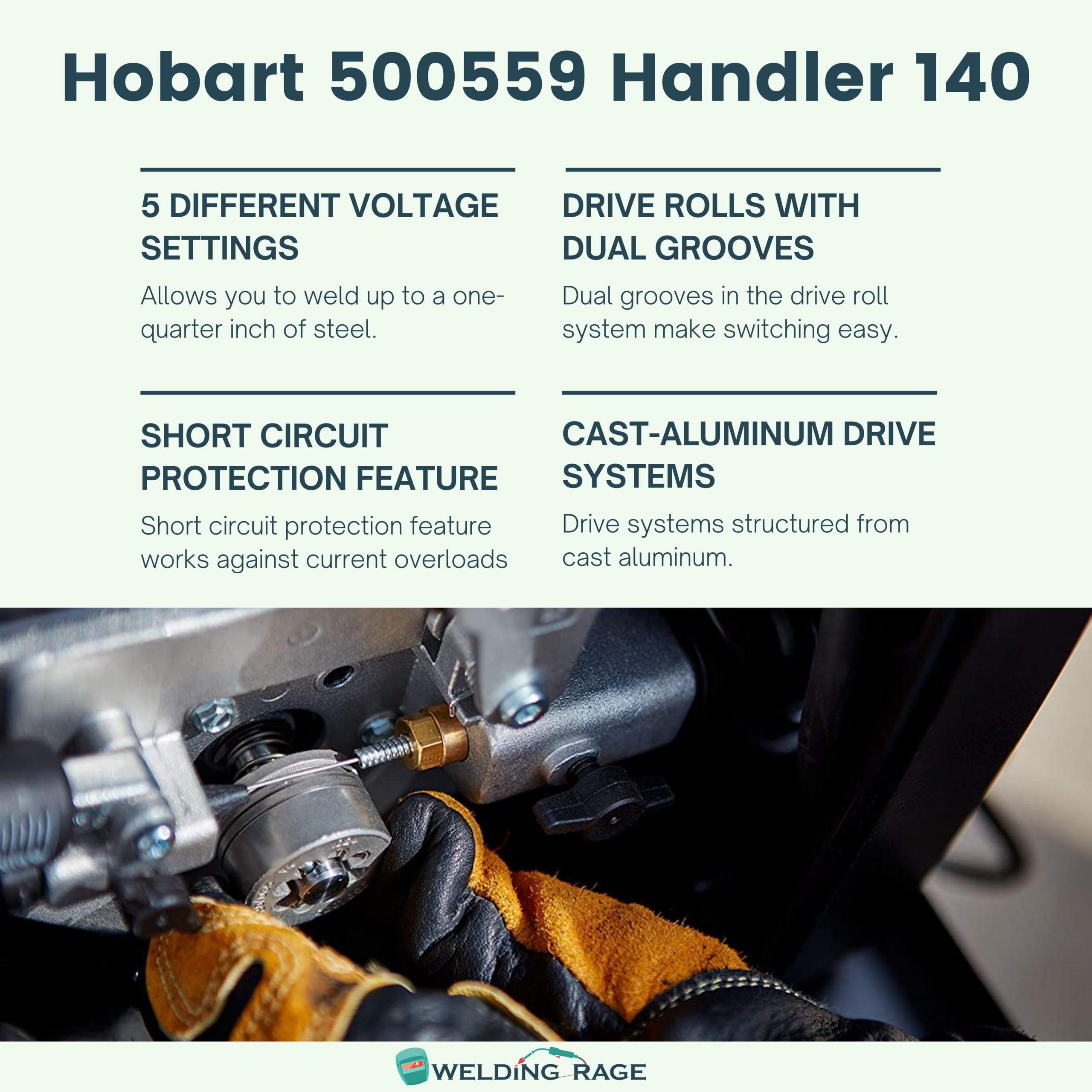 Hobart Handler 140 Key Features