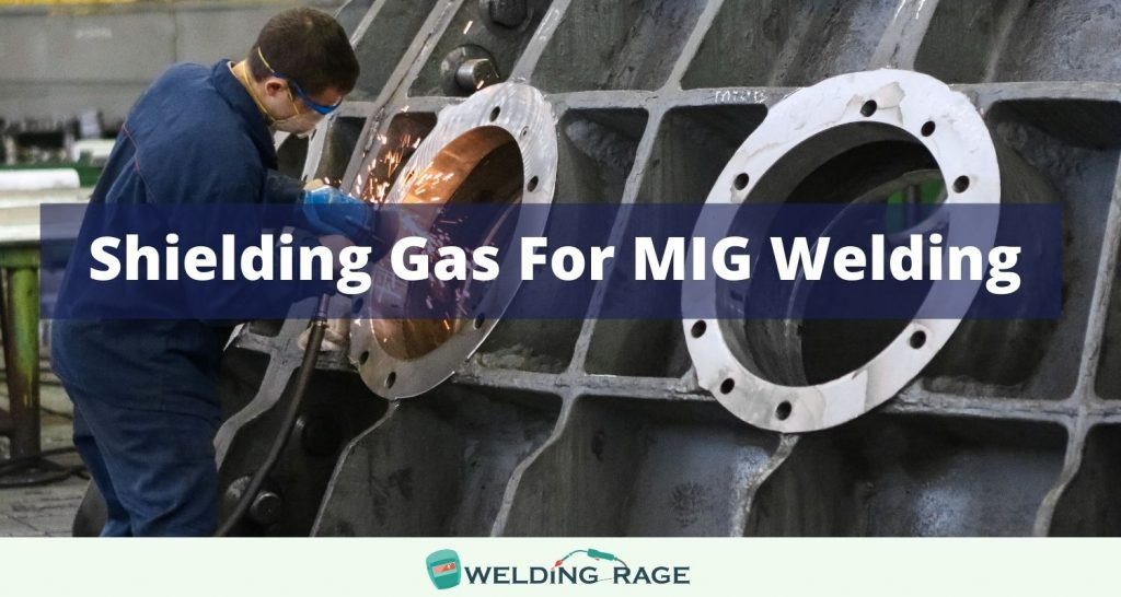 Shielding gas for MIG welding
